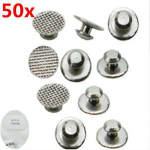 50X Dental Orthodontic Lingual Button for Bondable Round Mesh Base Monoblock