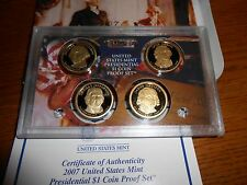 2007 - 2010 PRESIDENTIAL DOLLAR CAMEO PROOF SETS, 16 COINS, no boxes