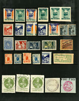 Poland Unusual Stamp Selection of 29 specialized local issues