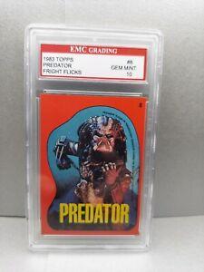 PREDATOR  1988 Topps Fright Flicks  STICKER EMC 10 RARE CARD MINT VINTAGE