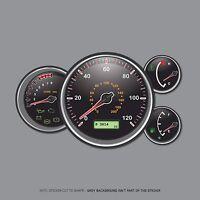 SKU2522 - Kids Pedal Car Dashboard Sticker Set - Speedo Rev Water Temperature