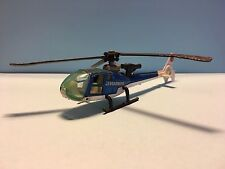 Diecast Majorette Gazelle Helicopter Blue/White Used Condition