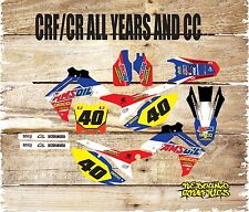 HONDA CR CRF 85 125 150 250 450 FULL GRAPHICS KIT-STICKER KIT-DECALS-AMZOIL-MX