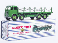 ATLAS 1/43 DINKY TOYS SUPERTOYS 905 FODEN FLAT TRUCK WITH CHAINS CAR MODEL ALLOY