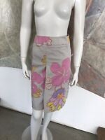 Carlisle Tropical Flower Floral Pencil Straight Skirt Size 6