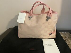 NWT!!!! TUMI Canvas Beige & Pink Tote Bag $295 Retial