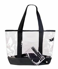 Clear Tote Work Bag See Through Totes Grocery Shopping Bags Eco Reusable Gift