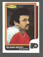 1986-87 OPC Hockey Glenn Chico Resch #158 Philadelphia Flyers NM/MT