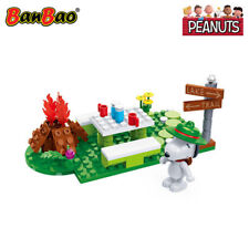 BanBao Snoopy Beagle Scout Camp Building Block Set 82 PCS - Peanuts Toy