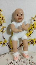 """SYNDEE'S 16"""" SYNDEE~BROWN EYE DOLL~ PREASSEMBLED CLOTH BODY ~PINK SHOES & SOCKS"""