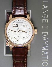 A. Lange & Sohne Lange 1 Daymatic 18k Rose Gold Mens Watch Box/Papers 320.032