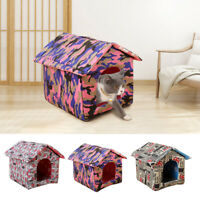 Waterproof Pet Cat Puppy Dog House Shelter Kennel Cave Bed Home Indoor Outdoor