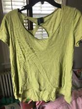 ANTHROPOLOGIE LEFT OF CENTER lime green ss tee Sz large