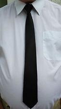 Noir clip on tie sécurité cravate portier steward cravate noire black funeral tie