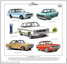 FORD Cortina Mk2 66-70 Stampa Fine Art Loto-Cortina Savage 1600E Mark 2 MK II