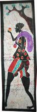 Batik Afrique de Cote d'Ivoire grande bande porteur sur fond blanc
