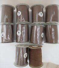 10 ROLLS KNITTING YARN - MOKUBA KNITTING TAPE - FROM JAPAN - BROWN/OLIVE -