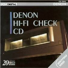 DENON HI-FI CHECK CD ~ AUDIOPHILE SERIES PCM DIGITAL Phase WOW Sq Wave FREQ Bias