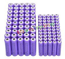 50AA +50 AAA 1.2V 1800mAh 3000mAh NiMH Purple Rechargeable Battery Cell