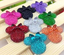 DIY 6pcs 25*28 Cute Mickey's DIY Flat Back Resin Buttons Scrapbooking,crafts