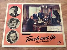 TOUCH AND GO Original Lobby Card 2 JACK HAWKINS MARGARET JOHNSTON JUNE THORBURN