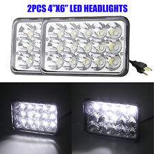 "2PC 4"" x 6"" SEALED BEAM LED HEADLIGHTS FOR SUZUKI GMC HONDA KENWORTH TOYOTA FORD"
