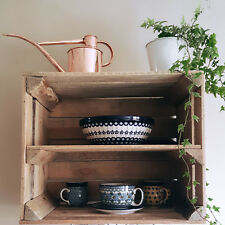 VINTAGE WOODEN WALL SHELF- Reclaimed Apple Crates / Kitchen Cupboard. UK MADE