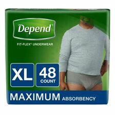 Depend Fit-Flex Extra Large Underwear for Men - 48 Count