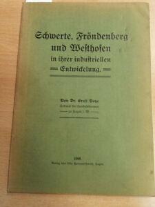 Schwerte, Fröndenberg und Westhofen in ihrer industriellen Entwicklung