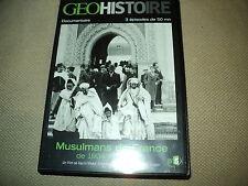 """COFFRET 2 DVD NEUF """"GEO HISTOIRE : MUSULMANS DE FRANCE DE 1904 A NOS JOURS"""""""