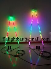 Pair 4ft Spiral Dream Color Quick Connect Mount Light whip 4X4 SandFree Shippin