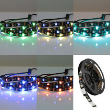 2pcs RGB TV Backlight LED STRIP USB Colour Changing Lighting Kit Adjustable 50cm