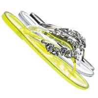 Joanie214 Lucite Rhinestone Crystal Jelly Sandal - Jelly Thong Flip Flip
