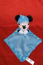Doudou Disney Nicotoy Mickey Plat Bleu Lune Nuage Phosphorescent