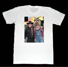 Willie Nelson & Popcorn Sutton Shirt 15 Tshirt Classic Country Western Moonshine