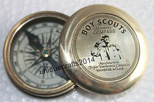 MARINE VINTAGE BRASS POEM COMPASS NAUTICAL BOY SCOUTS POCKET COMPASS GIFT ITEM.