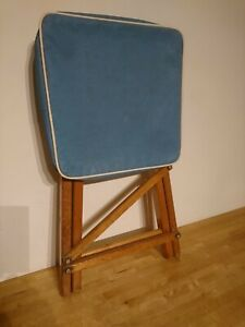 Vintage Retro COLYMILL - By RAYMOND HICKS LTD Wooden Folding Stool