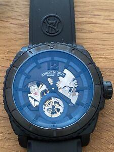 Neu! Armand Nicolet L09 Titan Handaufzug sichtbares Uhrwerk T619AQN-NR-G9610
