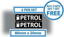 2 X Pegatinas De Gasolina Pegatina de advertencia de recordatorio de Combustible Coche Furgoneta Vinilo Calcomanía 80x20mm