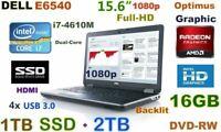# 3D-Design DELL E6540 i7-3.0GHz (1TB-SSD + 2TB HDD) 16GB 15.6 FHD Radeon HDMI