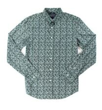 American Rag Floral Button Down Shirt Cilantro Green Mens Size Large New