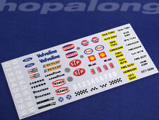Scalextric/Slot Car 1/32 Scale Waterslide Decals (with white print). ws002w