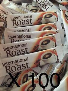 100 Single Serve International Roast Coffee Individual Sachets 1.7g each Stick