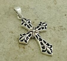 LARGE .925 STERLING SILVER FILIGREE CROSS PENDANT  style# p0811