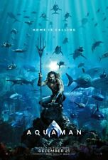 Aquaman - original DS movie poster 27x40 D/S Advance - 2018 DC Momoa