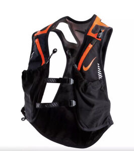 Nike Kiger Trail Running/Hiking Vest Reflective Black Orange Unisex Size:M