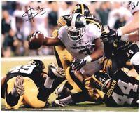 LJ Scott Autographed MSU Michigan State Spartans 11x14 REACH Photo Auto ~ w/COA