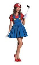 NWT Women's Super Mario Costume Dress Set OS Halloween Video Game Nintendo