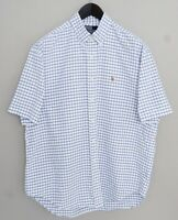 Men Polo By Ralph Lauren Casual Shirt Short Sleeves Blake Cotton Oxford L XMS272