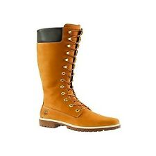 Timberland Womens Wheat Brown Premium 14 Inch Tall High Leather BOOTS 3752r UK 7